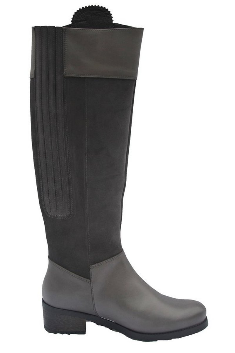 Mayfair Slate Grey Leather Boot