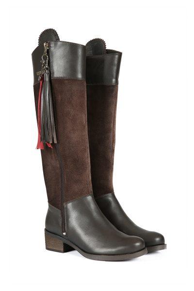 Mayfair Chocolate Leather Boot