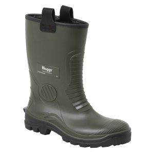 Hoggs of Fife AquaTuff Safety Rigger Boot Green Colour