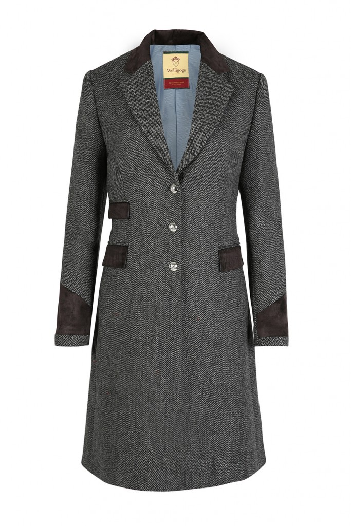 Demelza Grey Tweed Coat