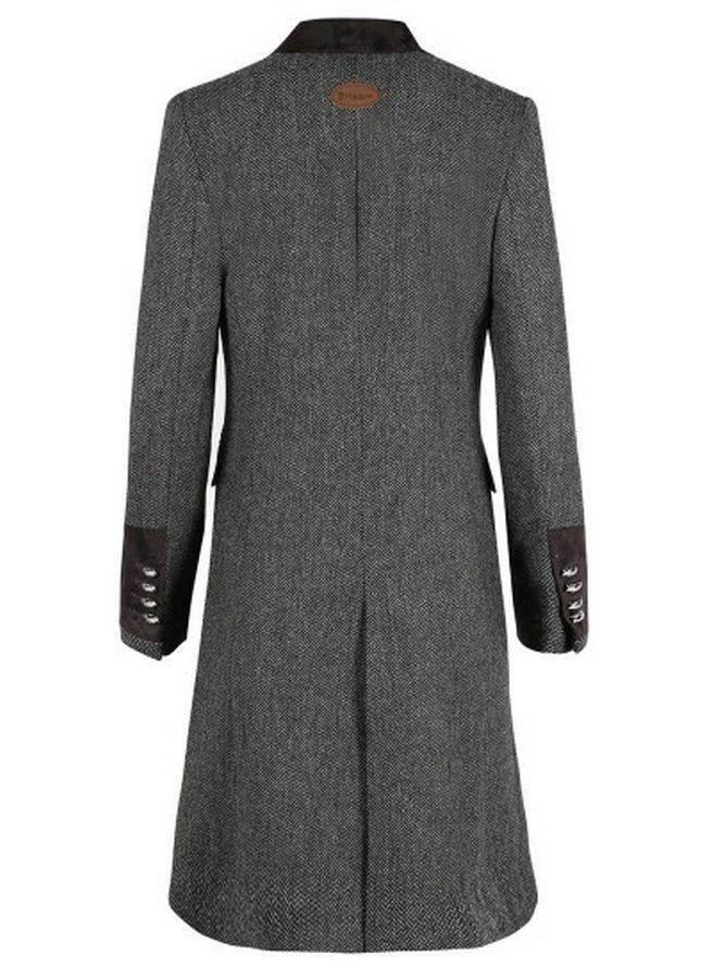 Demelza Grey Tweed Coat