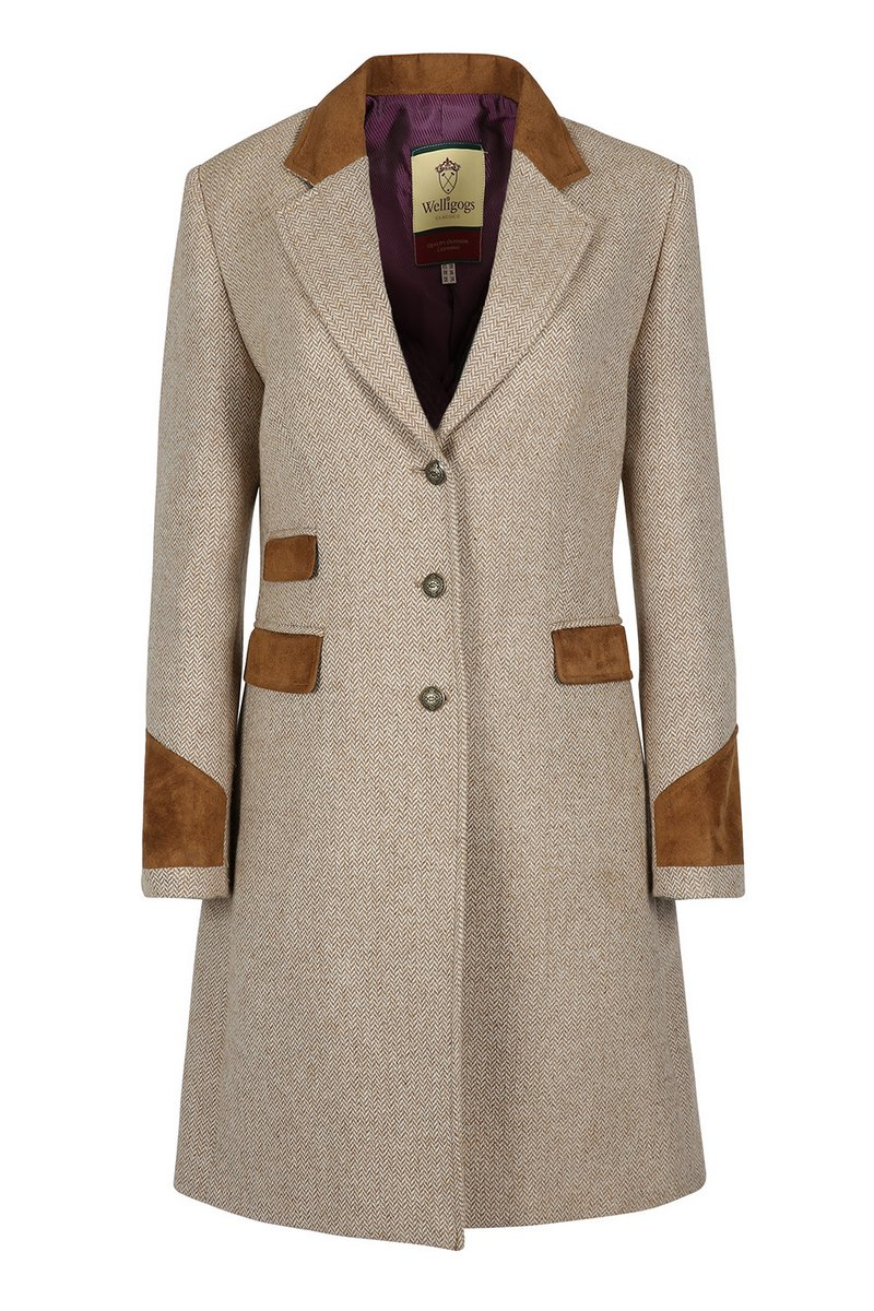 Demelza Hazelnut Tweed Coat