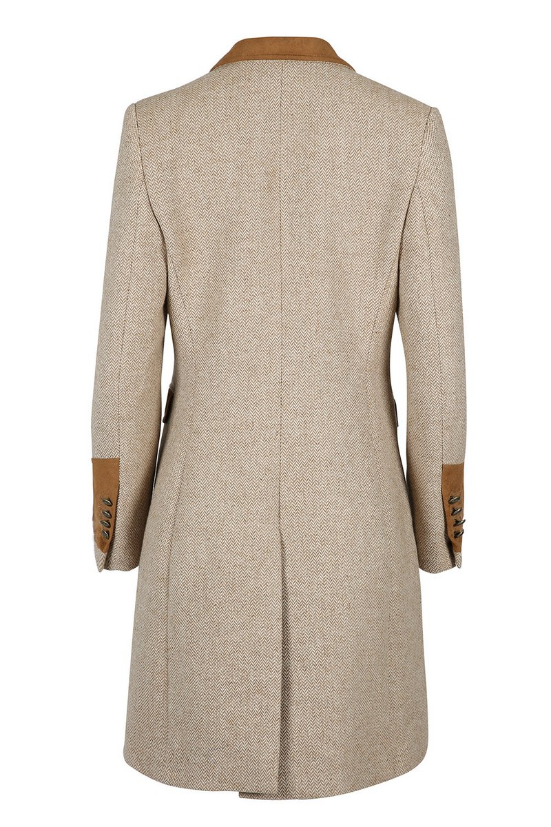 Demelza Hazelnut Tweed Coat