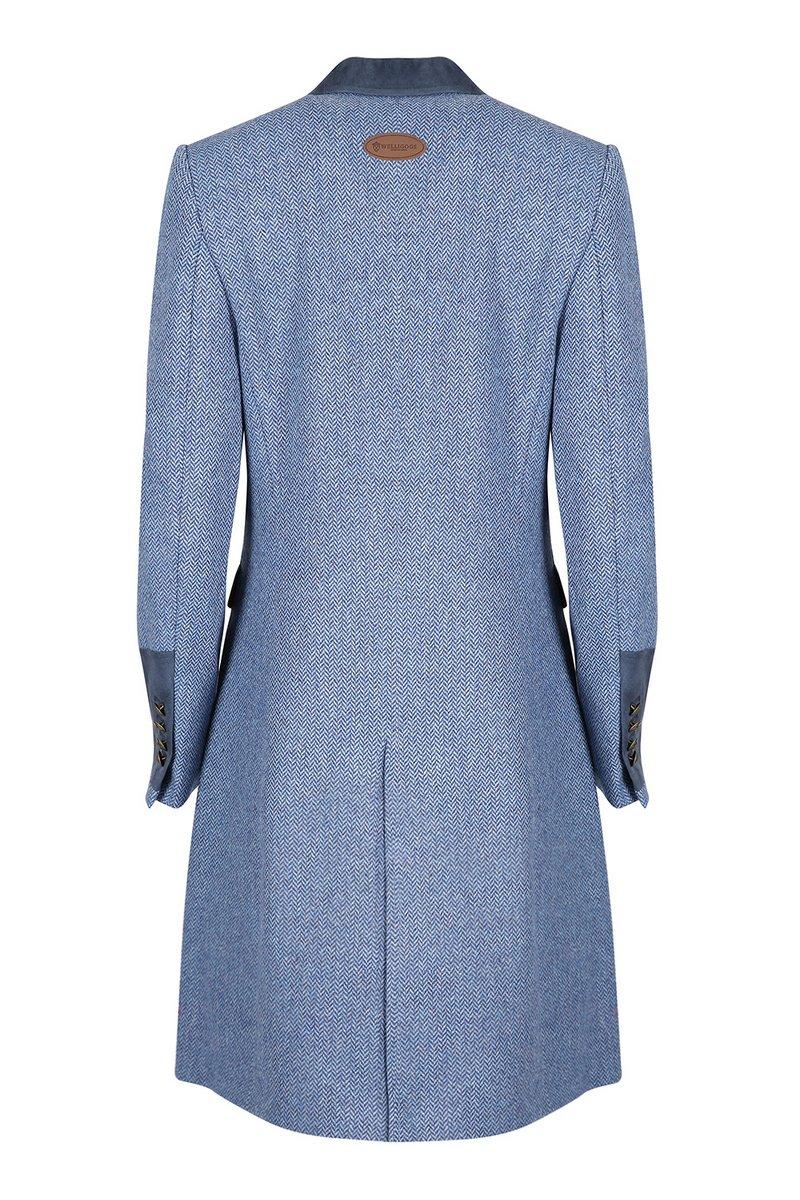 Demelza Pale Blue Tweed Coat
