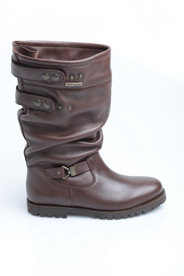 Mondo Chocolate Leather Boots