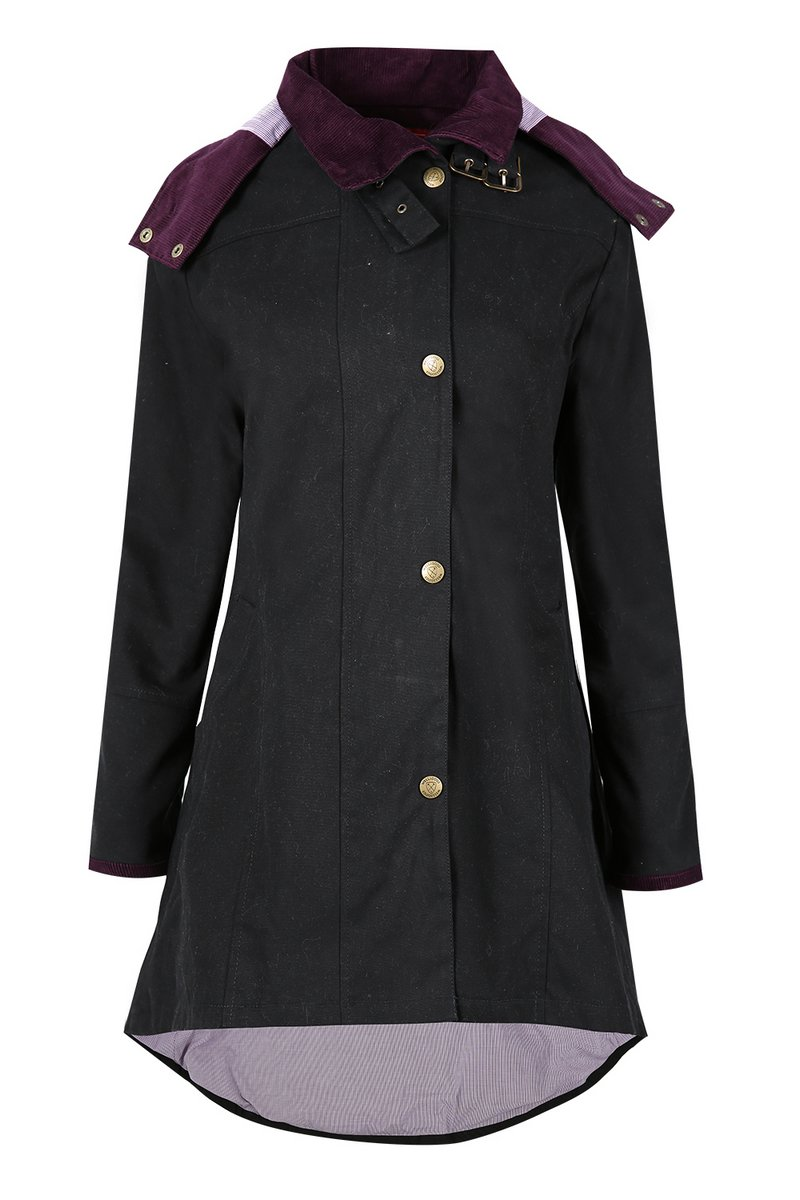 Odette Black Waterproof Jacket