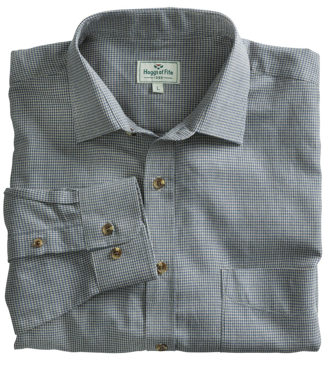Pure Cotton Pin Check Shirt