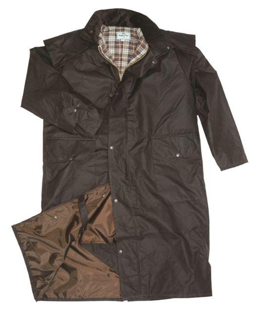 Waxed Long Coat