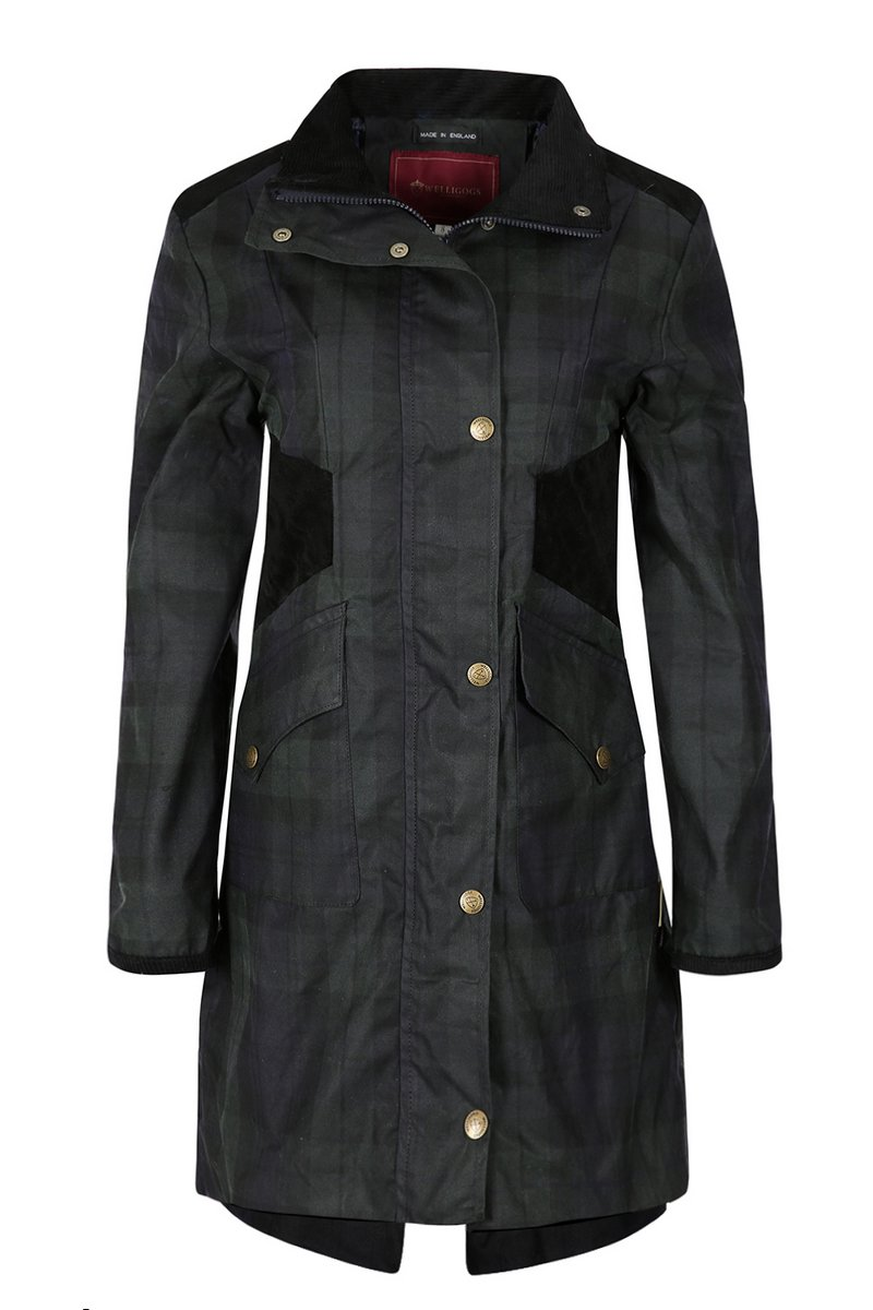 Zoe Midnight Deluxe Waxed Coat