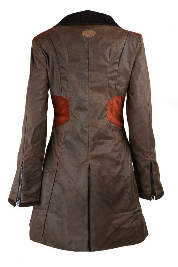 Zoe Chocolate Waxed Coat