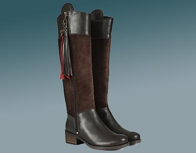 Ladies Leather Country Boots