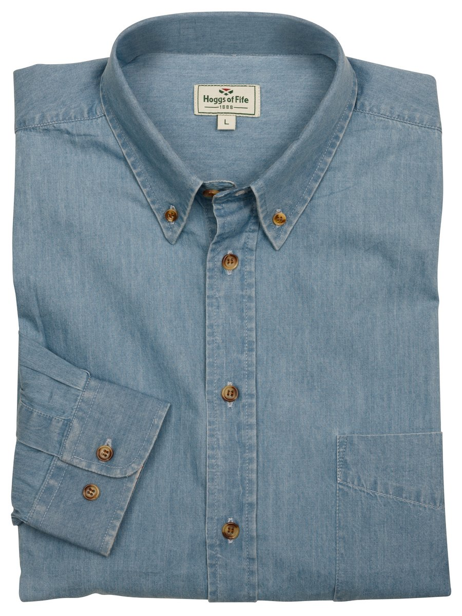 dae45248fc Hoggs of Fife Classic Chambray Shirt - PPG Country Clothing