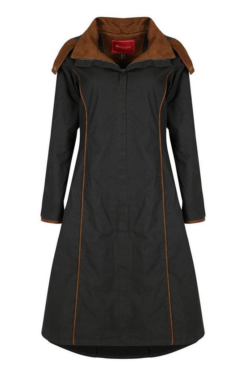 Eleanor Long Length Black Coat