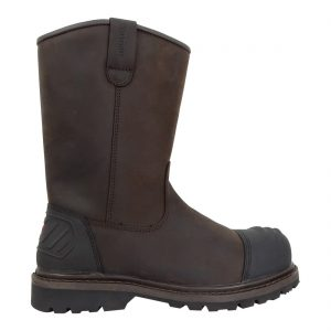 Hoggs of Fife Thor Safety Rigger Boot Dark Brown Colour